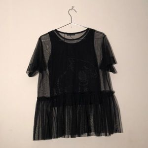 TULLE BLOUSE